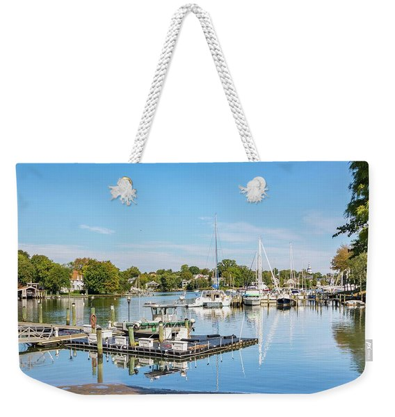 Early Fall Day On Spa Creek Weekender Tote Bag