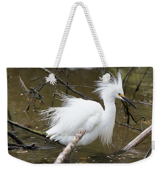 Egret Bath Weekender Tote Bag