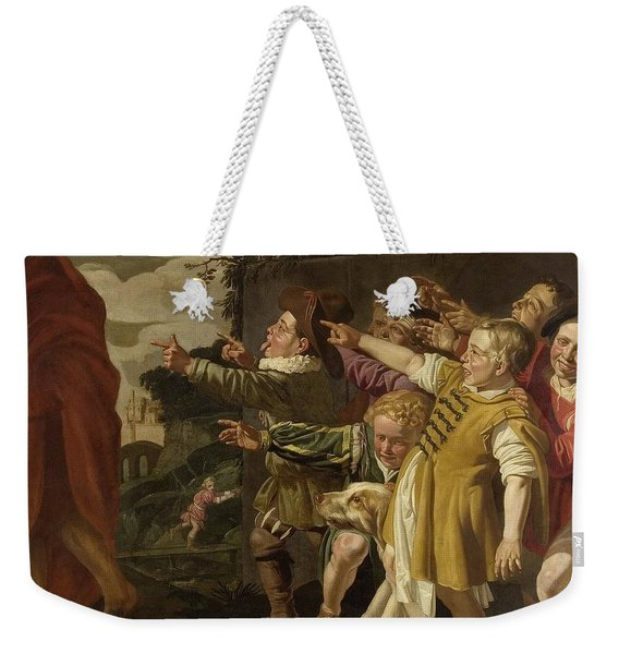 Elisha Mocked By Boys Weekender Tote Bag
