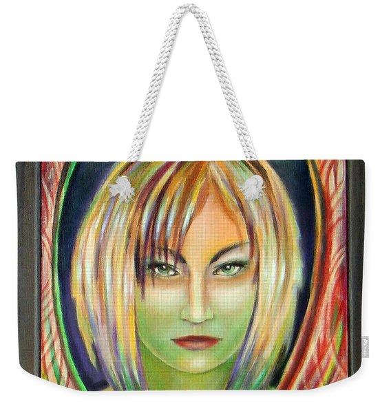 Emerald Girl Weekender Tote Bag