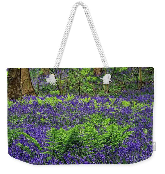 English Bluebell Woodland Weekender Tote Bag