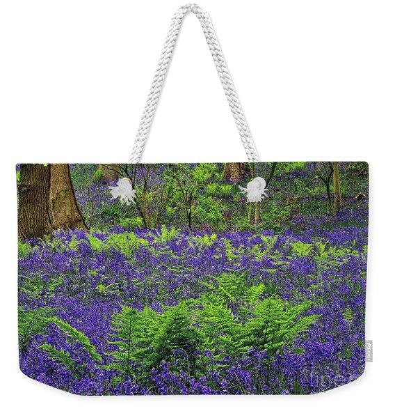 English Bluebell Woodland Weekender Tote Bag
