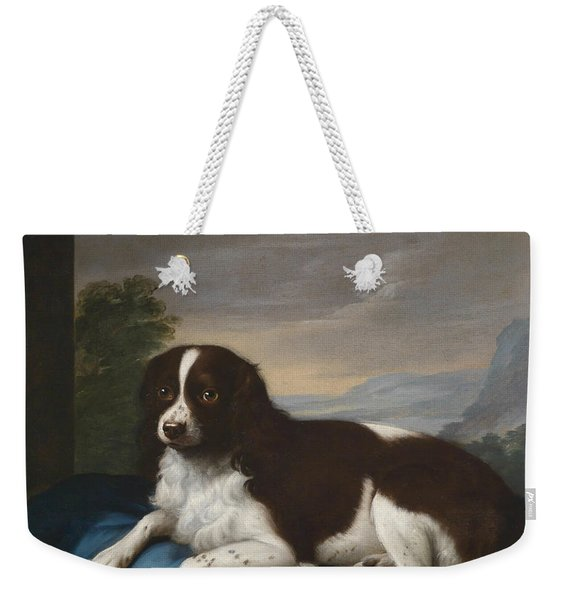 English Springer Spaniel On A Cushion Weekender Tote Bag