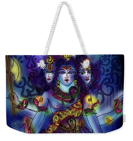 Enlightened Shiva Weekender Tote Bag