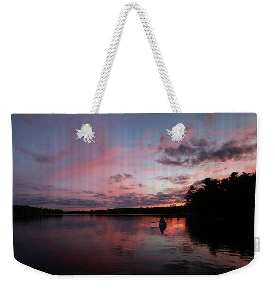 Evening Paddle Weekender Tote Bag