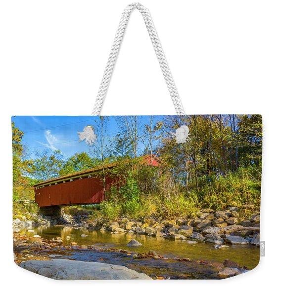 Everett Covered Bridge  Weekender Tote Bag