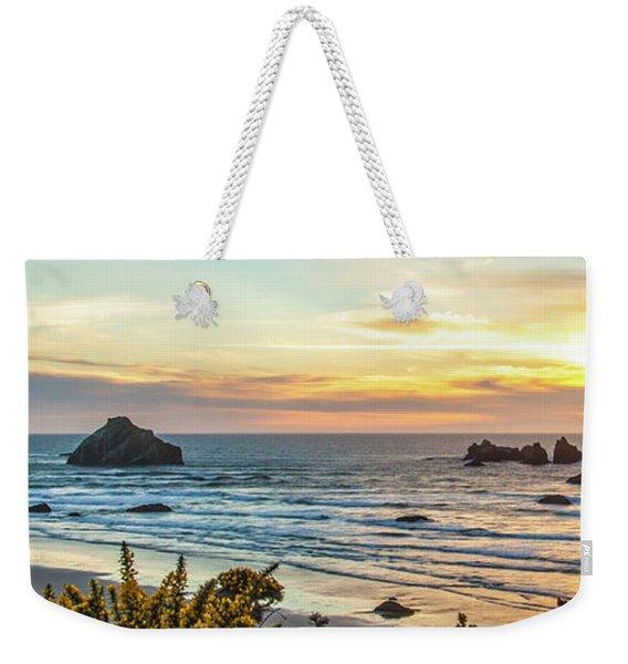Face Rock At Sunset Weekender Tote Bag