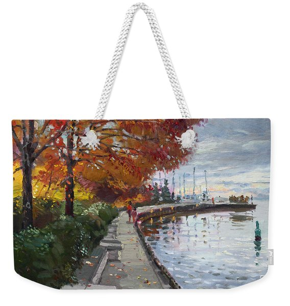 Fall In Port Credit On Weekender Tote Bag