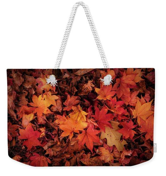 Fall Mosaic Weekender Tote Bag