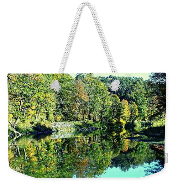 Fall On The Ottauquechee River Weekender Tote Bag