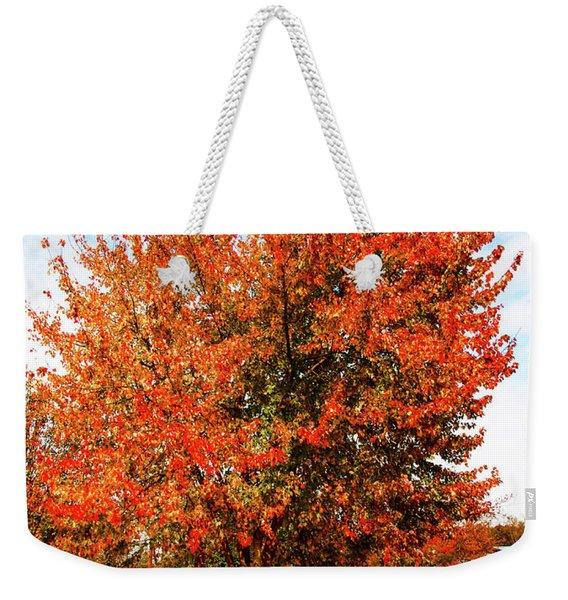 Fall Time Weekender Tote Bag