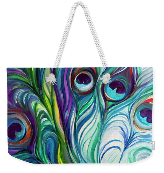 Feathers Peacock Abstract Weekender Tote Bag