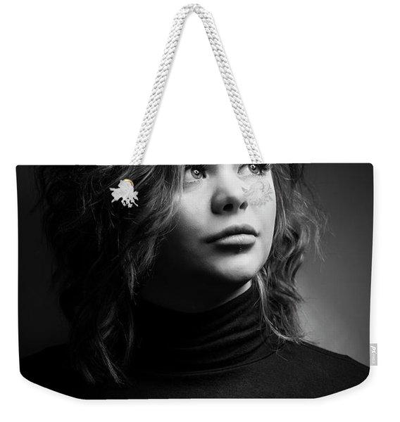 Female Model Weekender Tote Bag