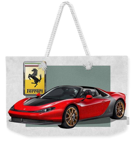 Ferrari Sergio With 3d Badge  Weekender Tote Bag