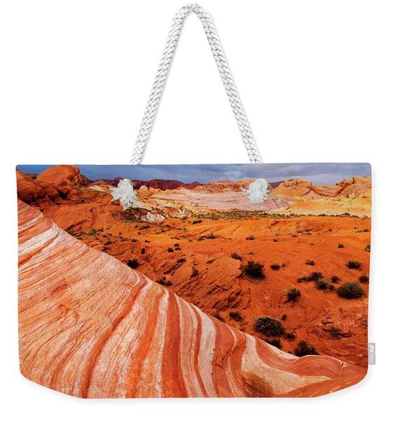 Fire Wave Miracle Weekender Tote Bag