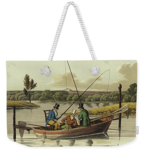 Fishing In A Punt  Weekender Tote Bag