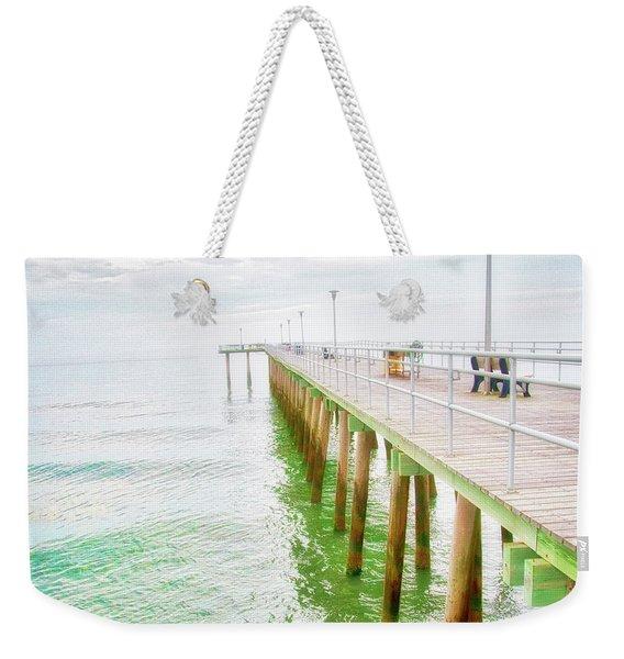 Fishing Pier, Margate, New Jersey Weekender Tote Bag