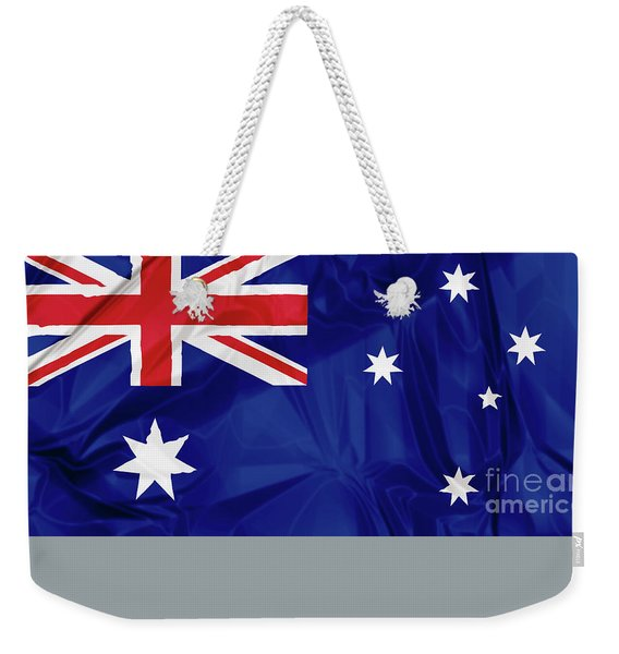 Weekender Tote Bag featuring the digital art Flag Of Australia by Benny Marty