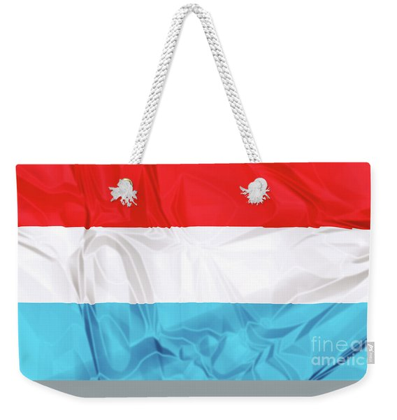 Weekender Tote Bag featuring the digital art Flag Of Luxembourg by Benny Marty