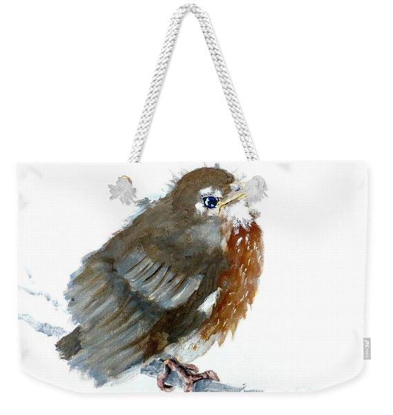 Fledgling Robin Weekender Tote Bag