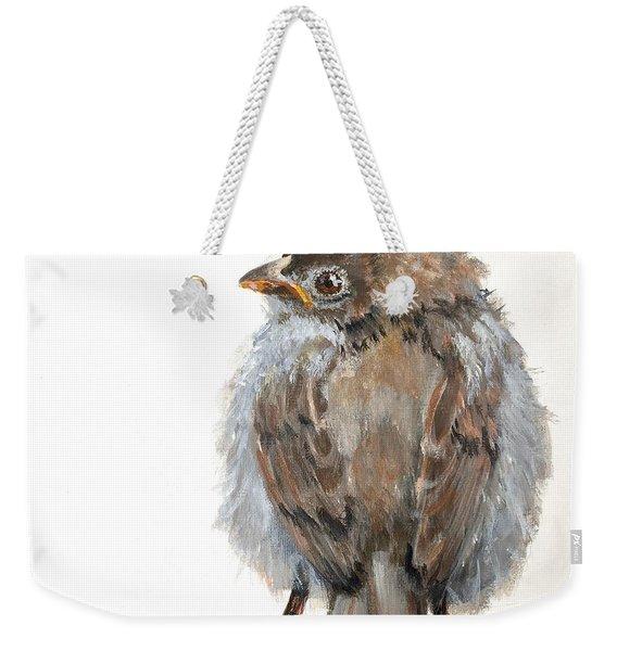Fledgling Sparrow Weekender Tote Bag