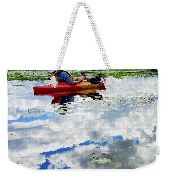 Floating In The Sky Weekender Tote Bag