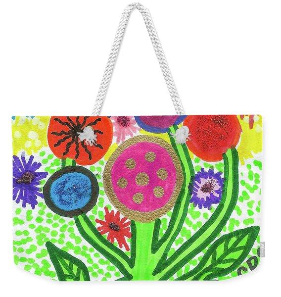 Flowers In The Round 9.7 Weekender Tote Bag