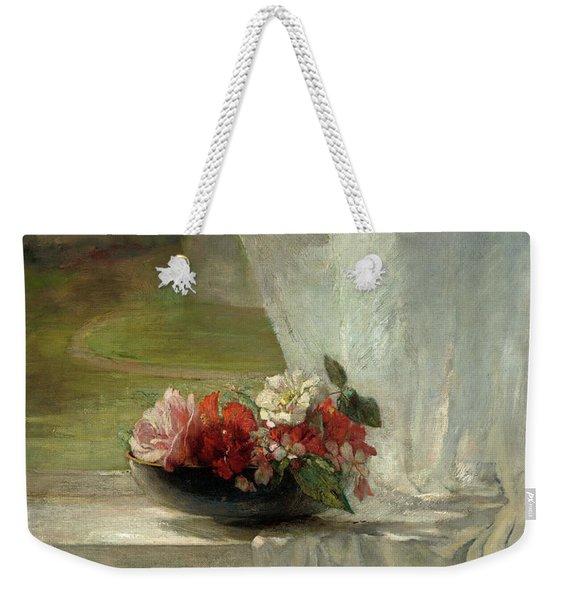 Flowers On A Window Ledge Weekender Tote Bag