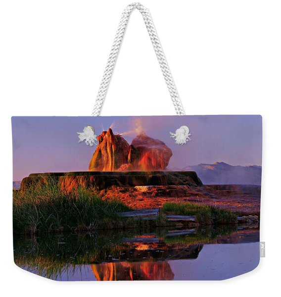 Fly Geyser At Dawn Weekender Tote Bag