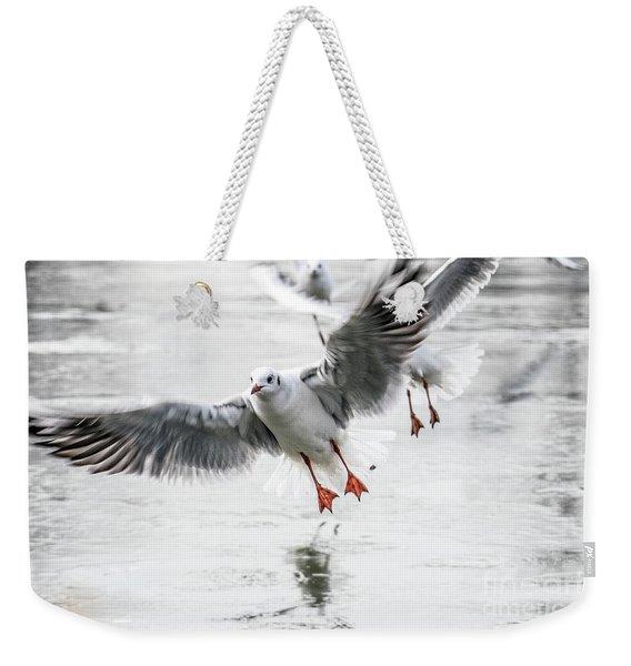 Flying Seagulls Weekender Tote Bag