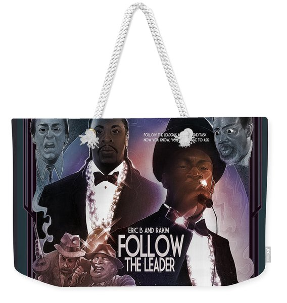 Weekender Tote Bag featuring the digital art Follow The Leader 2 by Nelson Dedos Garcia