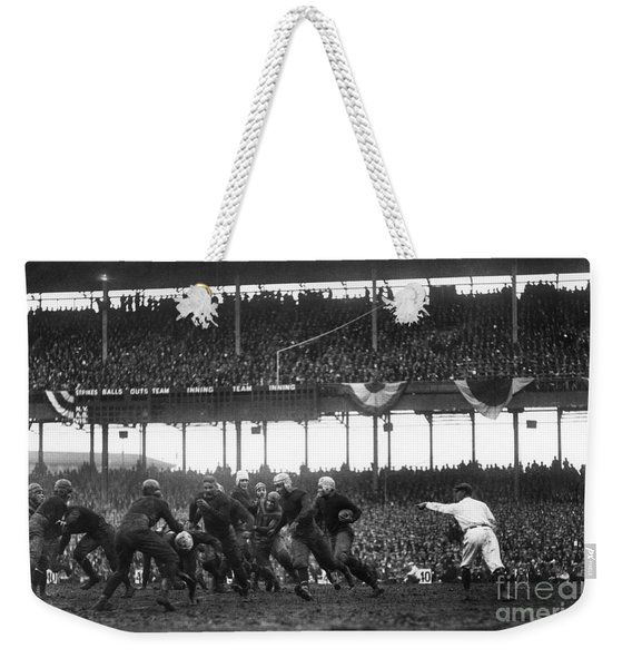 Football Game, 1925 Weekender Tote Bag