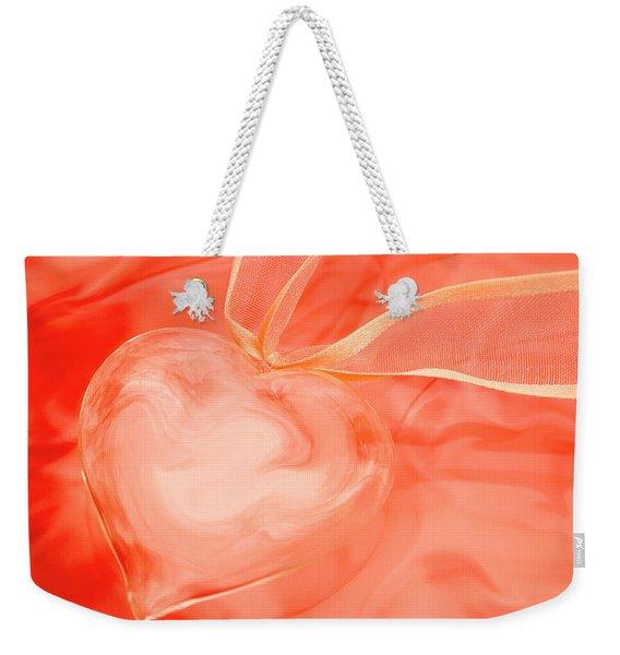 Fragile Heart Valentine's Day Card Weekender Tote Bag