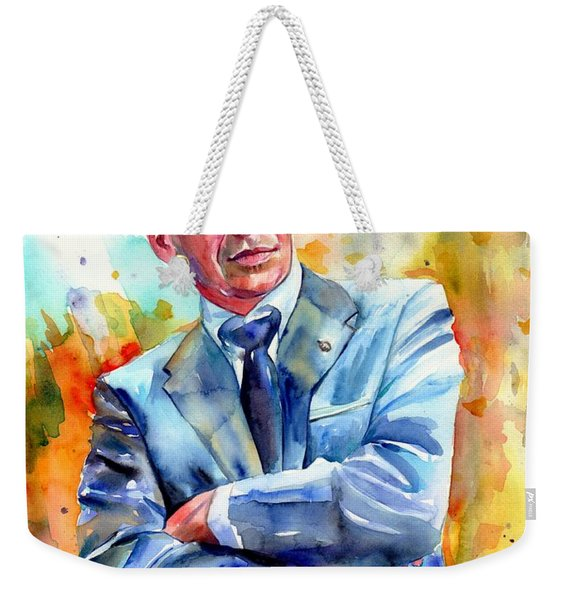 Frank Sinatra Young Painting Weekender Tote Bag