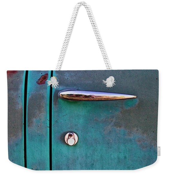 Gasoline Alley Faded Paint And Rust Weekender Tote Bag