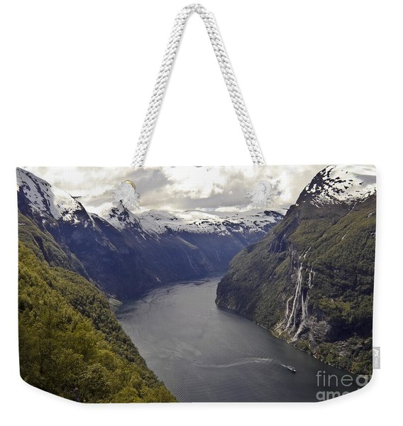 Geiranger Fjord Weekender Tote Bag