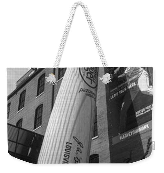 Giant Baseball Bat Adorns Weekender Tote Bag
