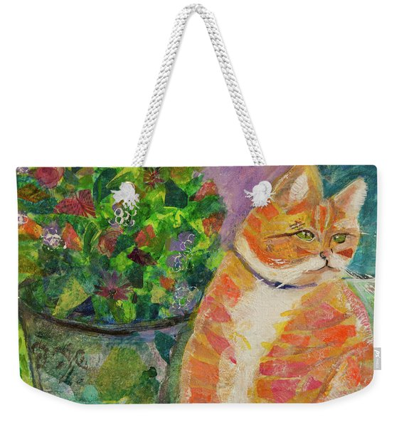 Ginger With Flowers Weekender Tote Bag