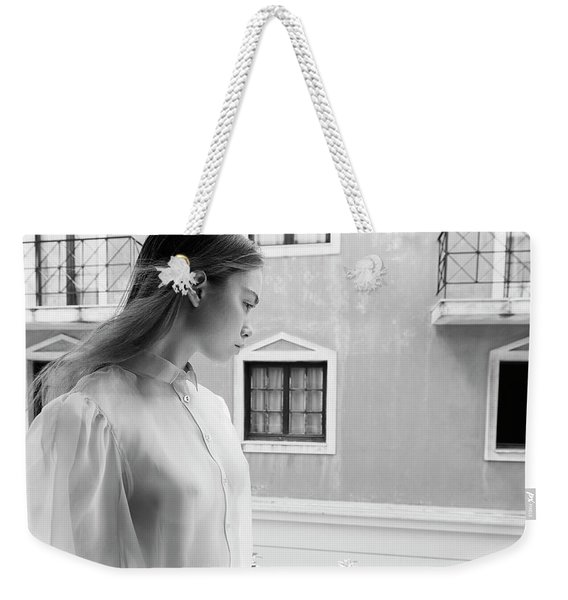 Girl In Profile Weekender Tote Bag
