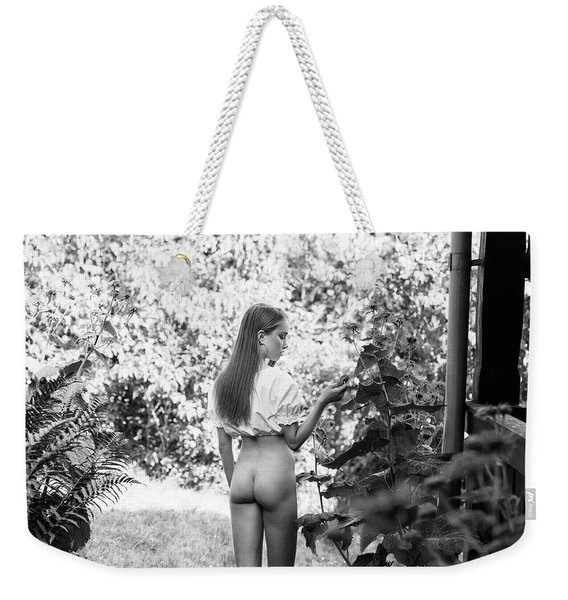 Girl In Swedish Garden Weekender Tote Bag