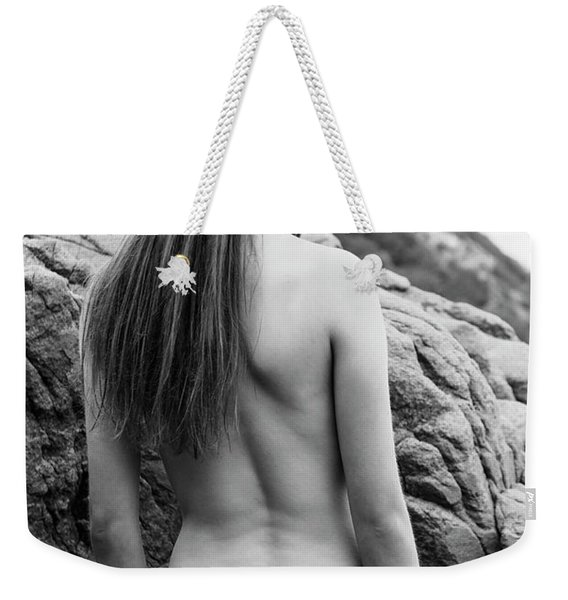 Girl On The Rocks Weekender Tote Bag
