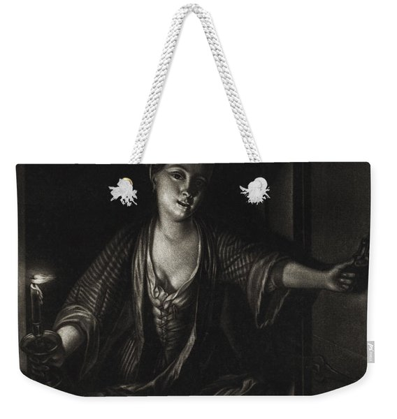 Girl With A Candle Weekender Tote Bag