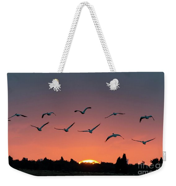Weekender Tote Bag featuring the photograph Go West by Arik Baltinester