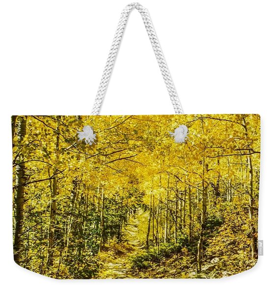 Golden Aspens In Colorado Mountains Weekender Tote Bag
