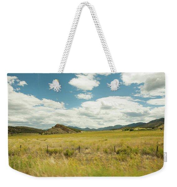 Golden Meadows Weekender Tote Bag