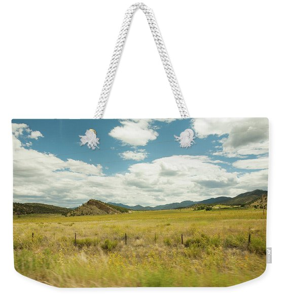 Golden Meadows Weekender Tote Bag