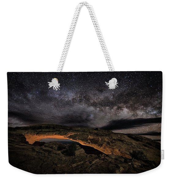 Golden Mesa Night Weekender Tote Bag