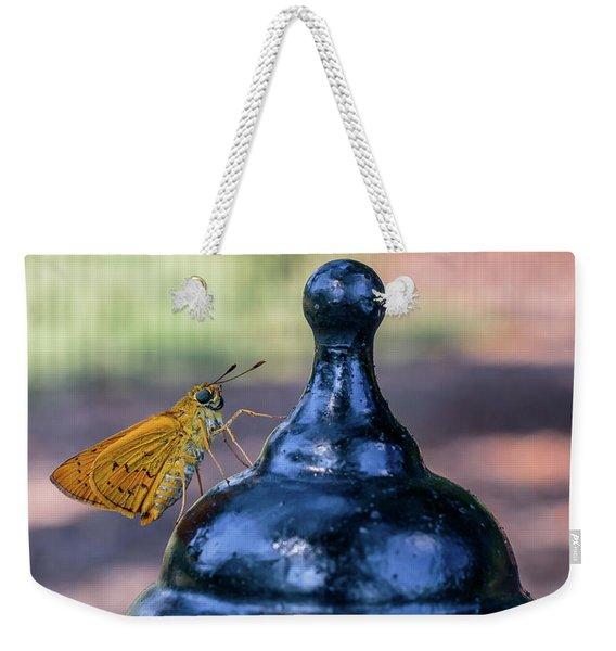 Golden Moth Weekender Tote Bag