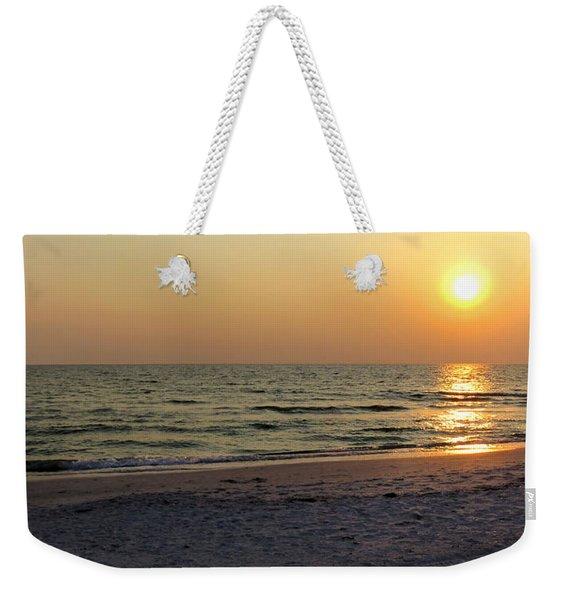 Golden Setting Sun Weekender Tote Bag