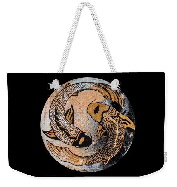 Golden Yin And Yang Weekender Tote Bag